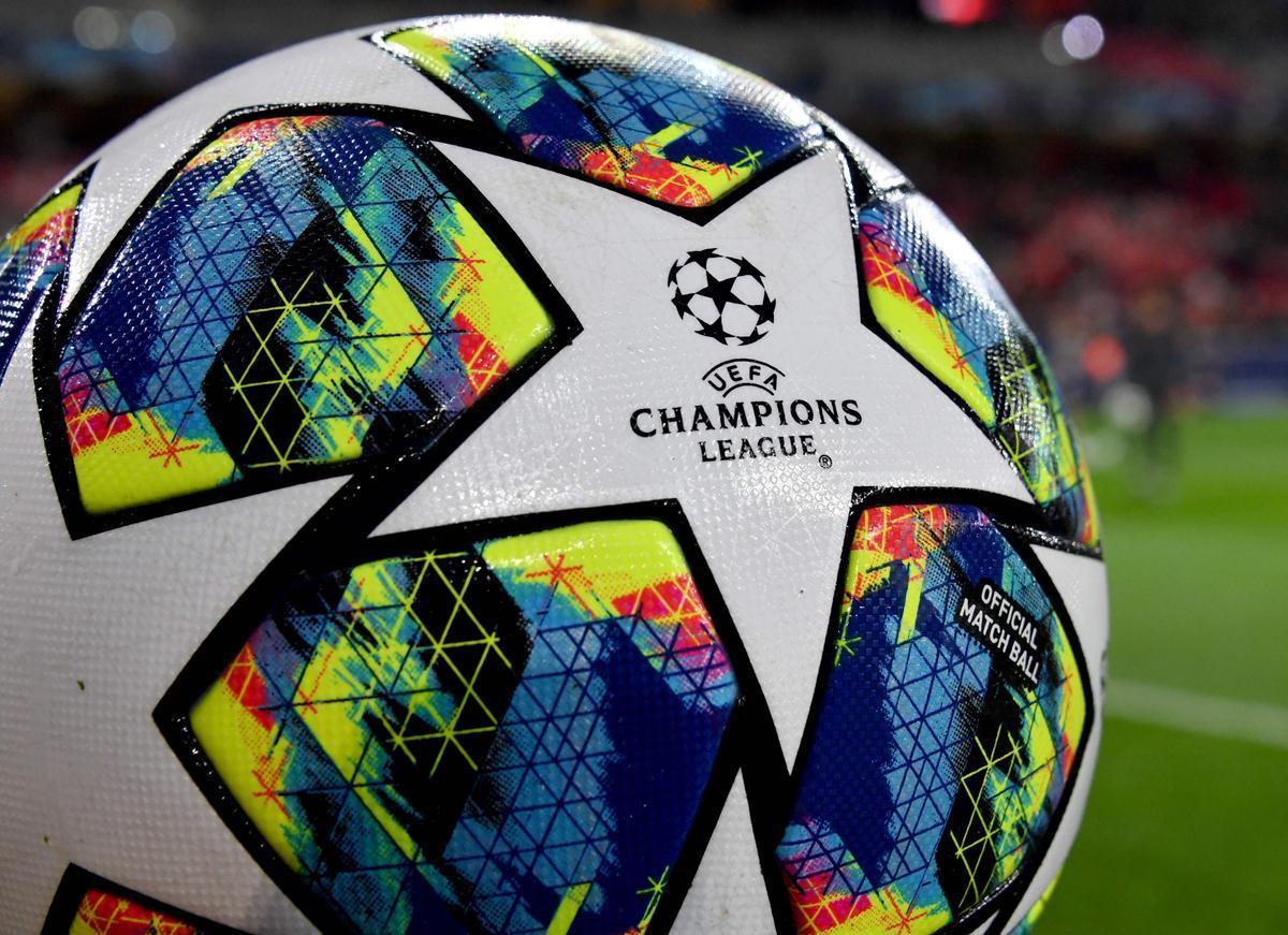 Un balón utilizado en la Champions
