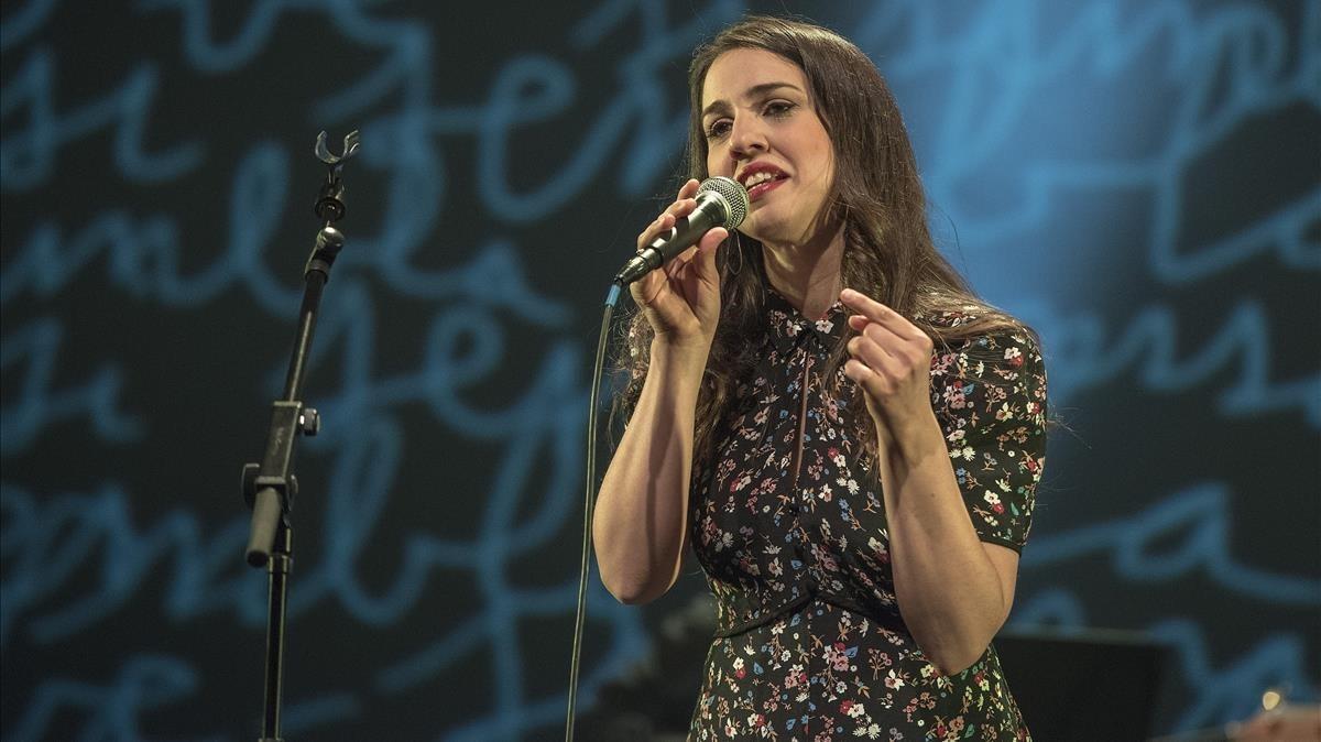 Gemma Humet, en el concierto de homenaje a Ramon Muntaner.
