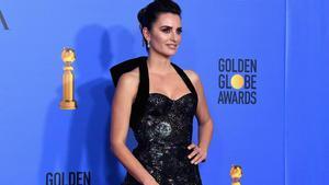 Sabor latino en la alfombra roja de los Globos de Oro. En la foto, Penélope Cruz.