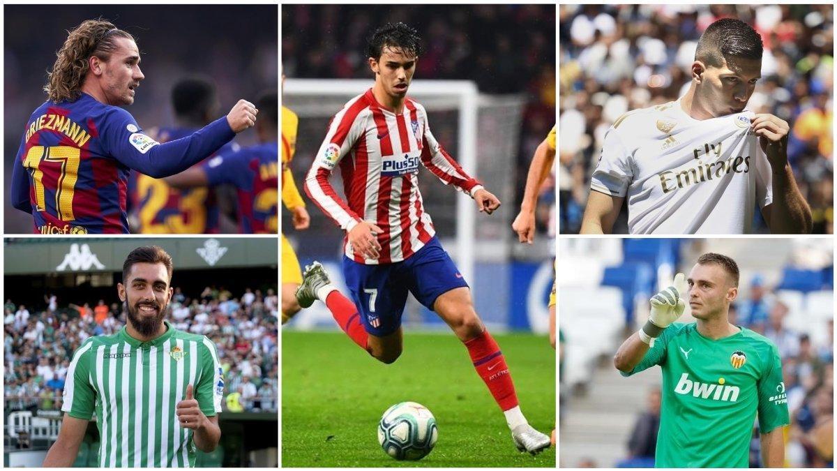 Griezmann, João Félix, Jovic, Borja Iglesias y Cillessen.