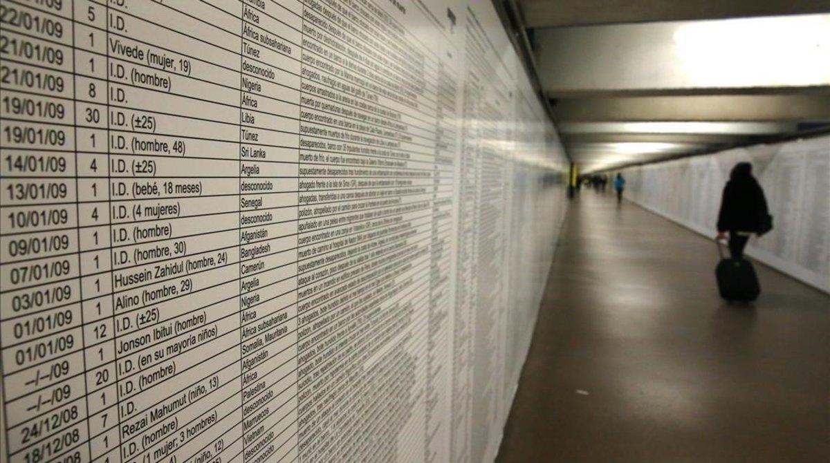 La ignominiosa llista dels 35.597 migrants morts en la ruta del Mediterrani