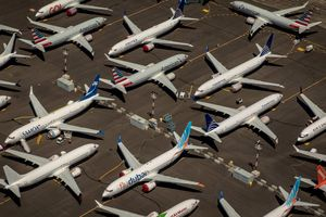 Seattle (United States), 21/07/2019.- (FILE) - An aerial view of Boeing 737 Max 8 aircraft parked at Boeing Field in Seattle, Washington, USA, 21 July 2019 (reissued 29 April 2020). Boeing on 29 April 2020 reported an adjusted loss of 1.70 billion USD in the first quarter of 2020, and said it plans to cut the number of its staff by about 10 per cent. (Estados Unidos) EFE/EPA/GARY HE *** Local Caption *** 55830719