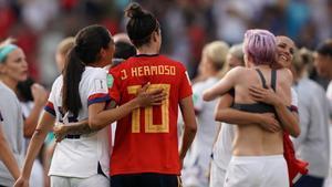 El júbilo estadounidense tras ganar a España en este Mundial.
