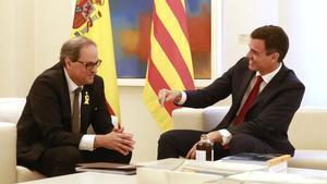 Sánchez mantiene la reunión con Torra, pero aplaza la mesa de diálogo.