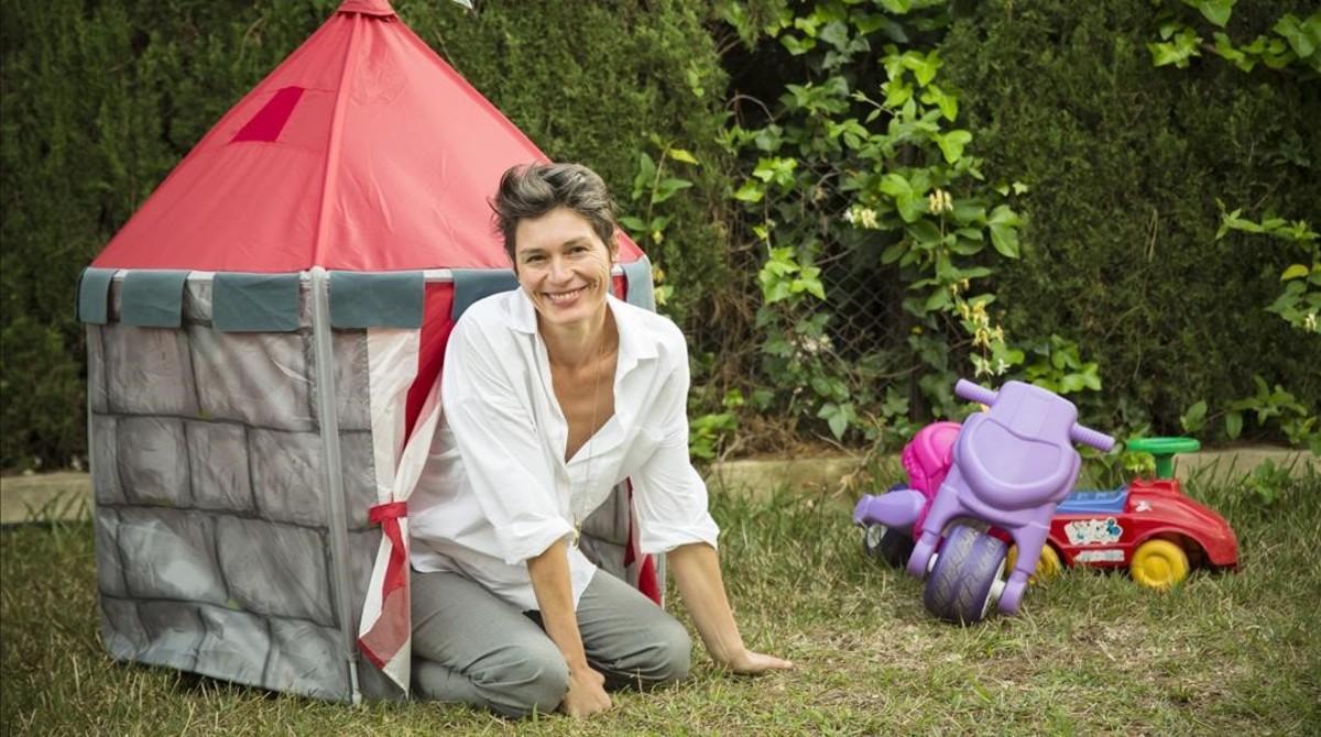 Maria Llopis, autora de 'Maternidades subversivas', en Benicassim.