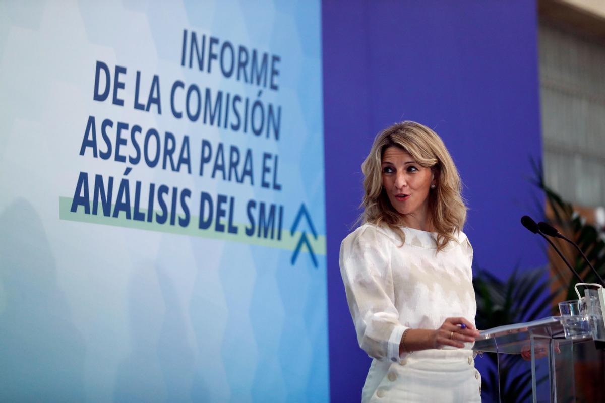 La vicepresidenta tercera y ministra de Trabajo, Yolanda Díaz.