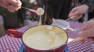 Una auténtica 'fondue' suiza.
