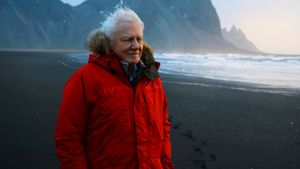 David Attenborough, en Islandia.
