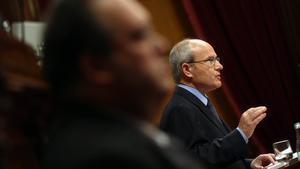José Montilla, durant la seva intervenció al Parlament, aquest matí.