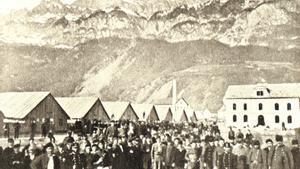 Una imagen de los soldados franceses del Ejército de Bourbaki, en Walenstadt (Suiza), en 1871