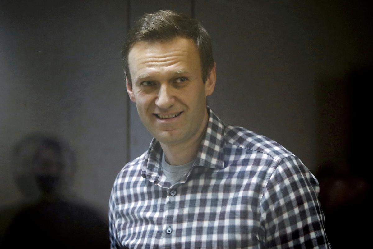 Alekséi Navalni, durante un proceso judicial.