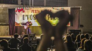 Miquel del Roig, en la fiesta mayor de Hostafrancs.