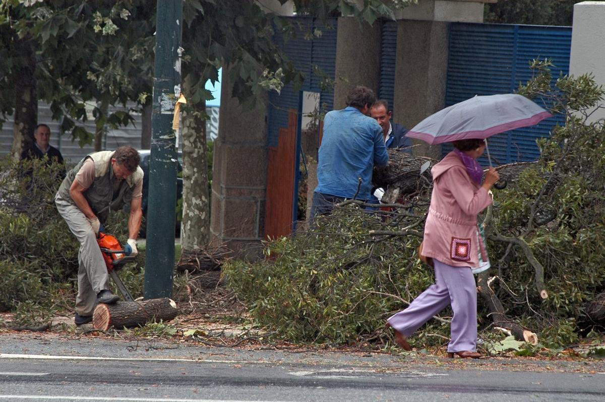 Efectos del temporal registrado en A Coruña en septiembre del 2006 como consecuencia del huracán Gordon.