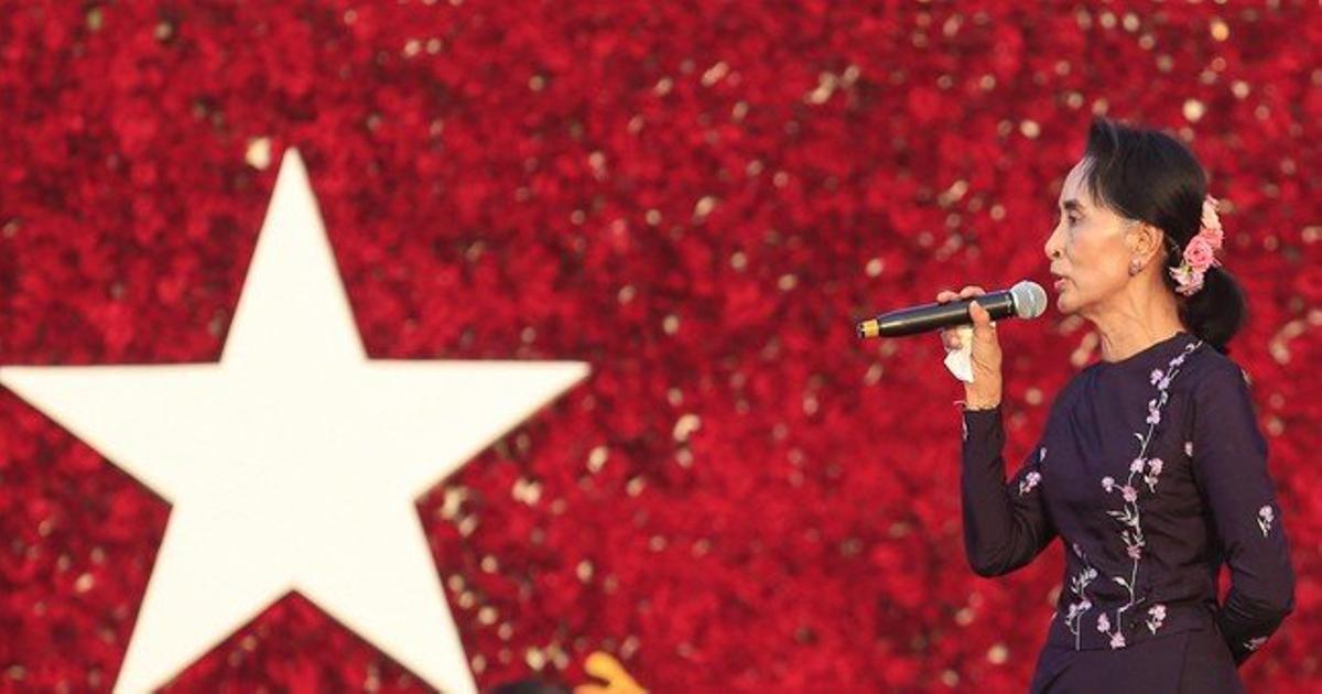 La líder opositora y premio Nobel de la Paz, Aung San Suu Kyi.