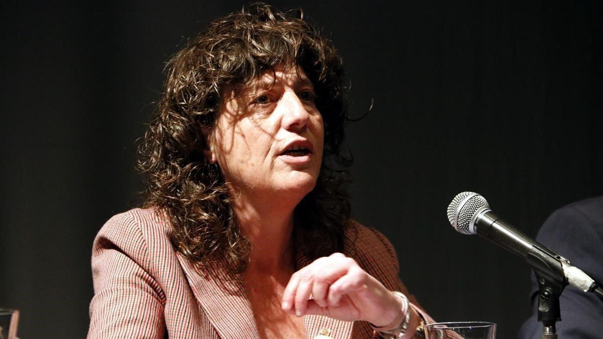 Teresa Jordà, el pasado 6 de marzo, en un acto en Mollerussa (Lleida).