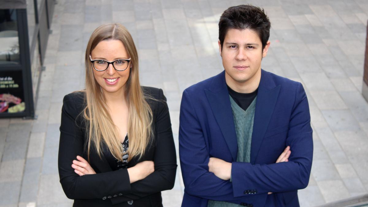 Victoria Gago y Daniel Salmerón, fundadores de la European Blockchain Convention.