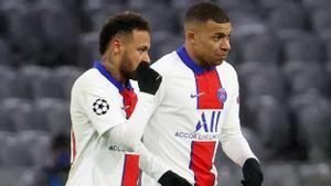 Neymar y Mbappé, en el partido de ida en Múnich.