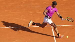 Rafael Nadal, durante su partido contra David Goffin en Montecarlo.