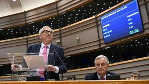 Jean-Claude Juncker en el Parlamento Europeo.