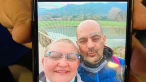 Alla, junto a su pareja, Miguel Ángel, el hombre que la ha asesinado.
