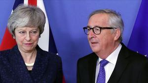 May y Juncker hoy en Bruselas.