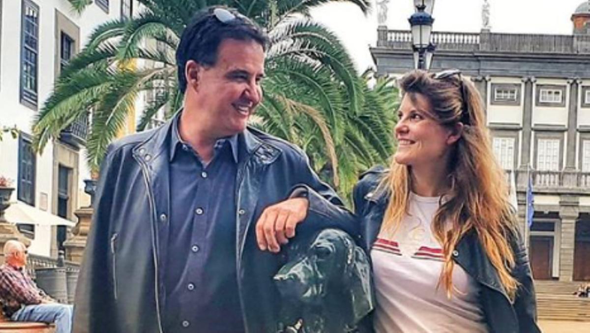 José Ramón de la Morena junto a su pareja, Laura Vázquez, en una imagen de Instagram.