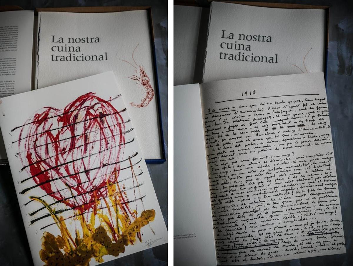 Textos e ilustraciones de 'La nostra cuina tradicional'.
