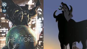 La portada de la antología de Batman junto a la imagen creada por Paco Roca.