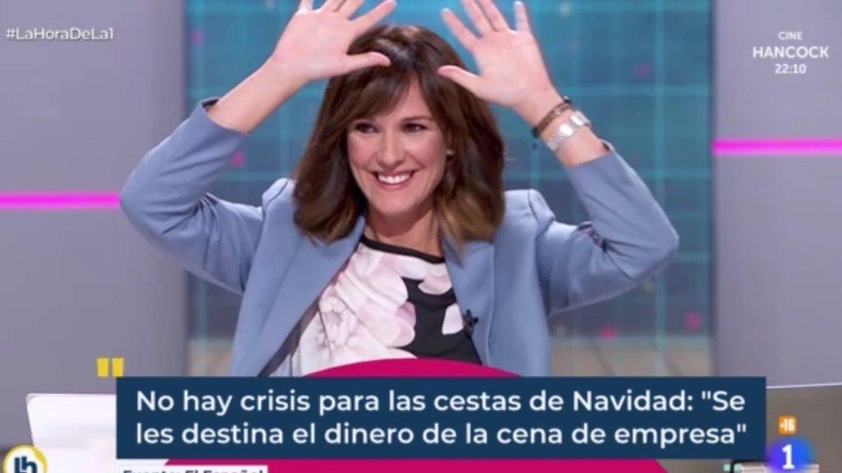 """Mónica López estalla en carcajadas por un lapsus sexual en 'La hora de La 1': """"¡Vaya mañanita!"""""""
