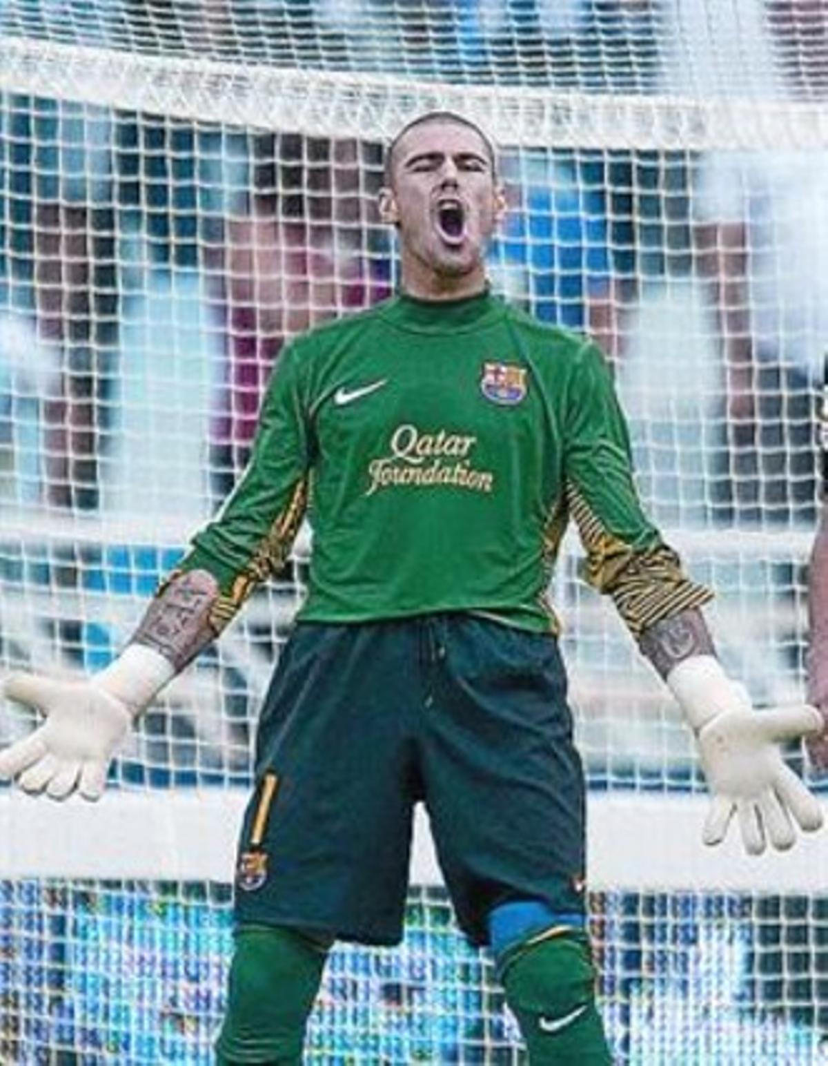 Valdés se enfada el sábado en Anoeta.