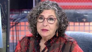 Lola Medina, madre de Nacho Palau, en su última visita a 'Sábado Deluxe'.